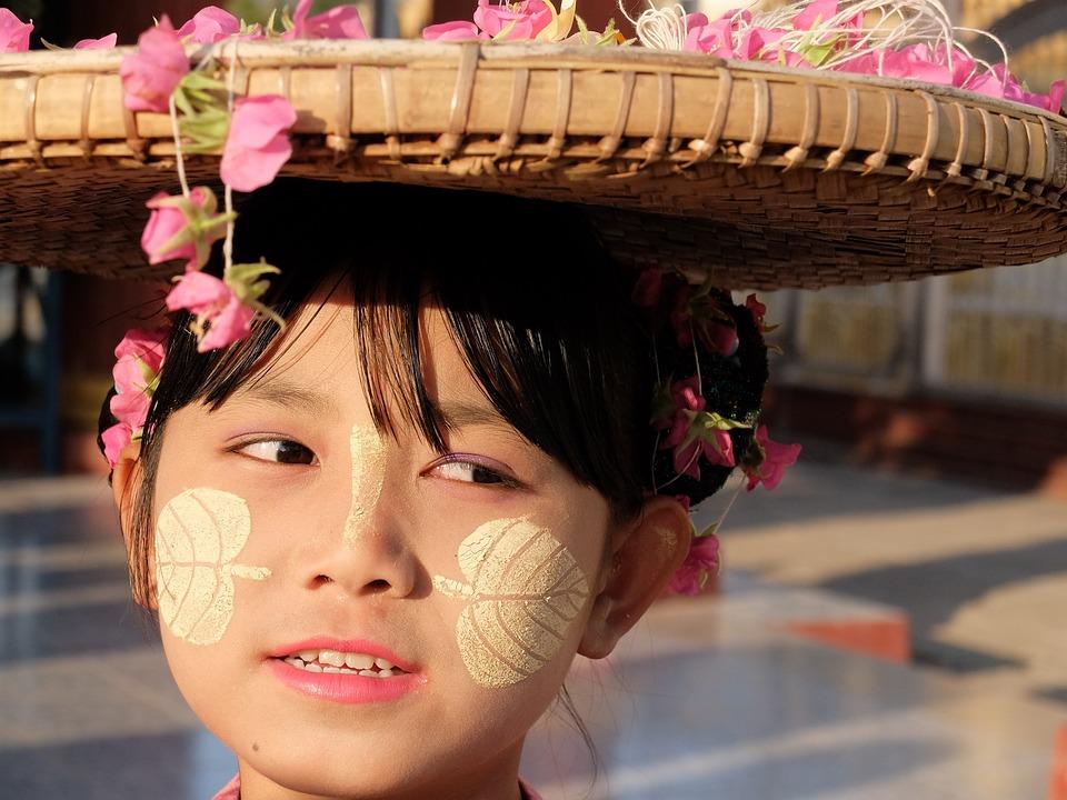 Burma, Girl, Buddhism, Happiness, Look, Happy Children