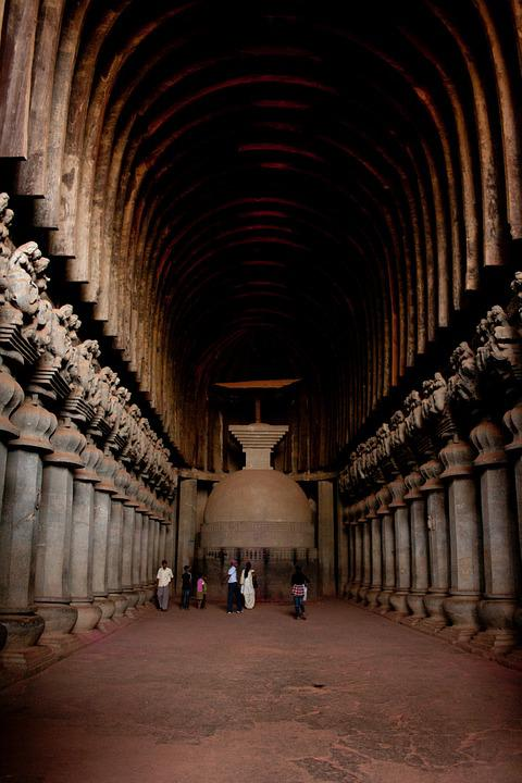 Karla Caves, India, Buddhism, Caves, Stone Carvings