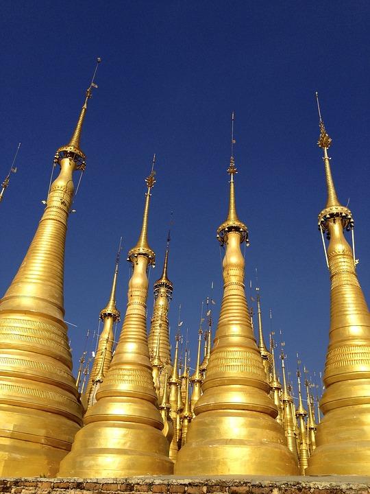 Pagoda, Spires, Temple, Religion, Buddhism, Buddhist