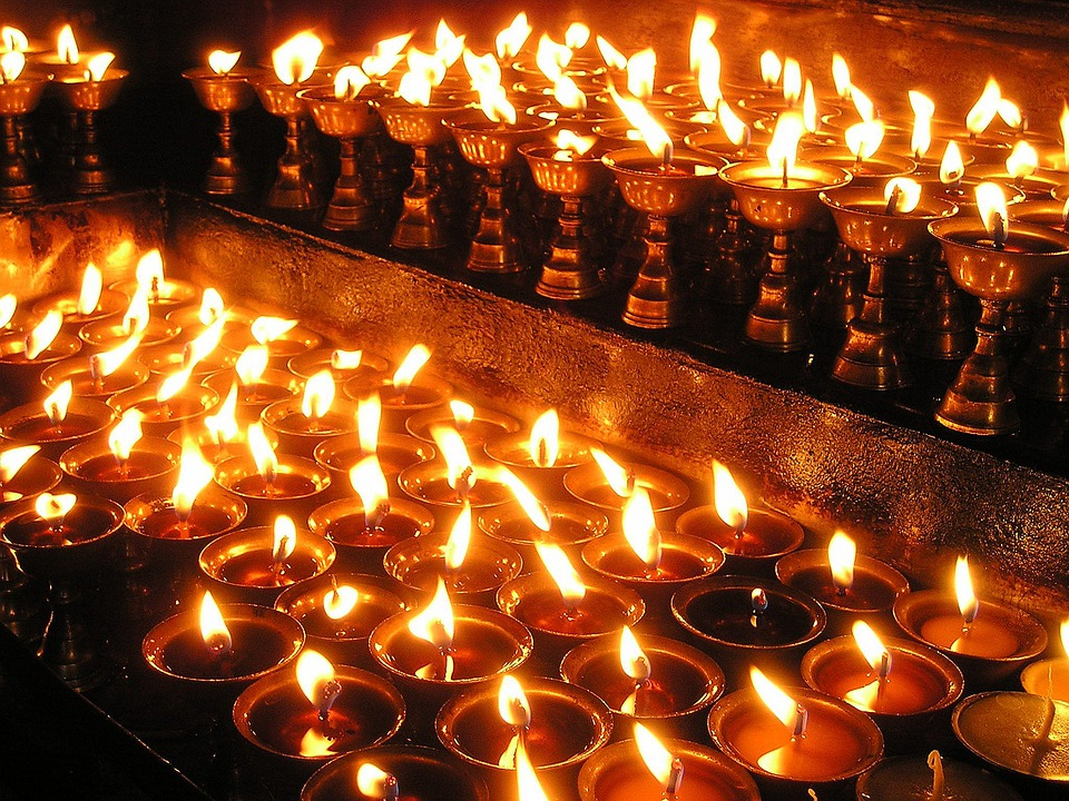 Nepal, Candles, Prayer Light, Holy, Pray, Buddhism