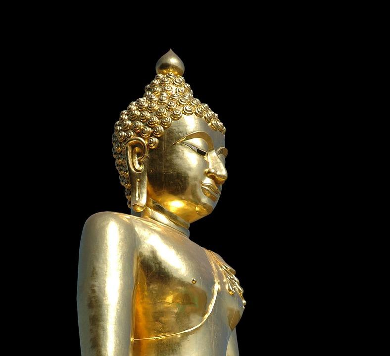Buddha, Gold, Statue, Sculpture, Buddhism, Buddhist