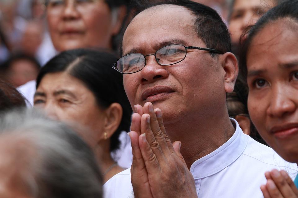 Praying, Buddhists, Thai, Temple, Buddhism, Thailand