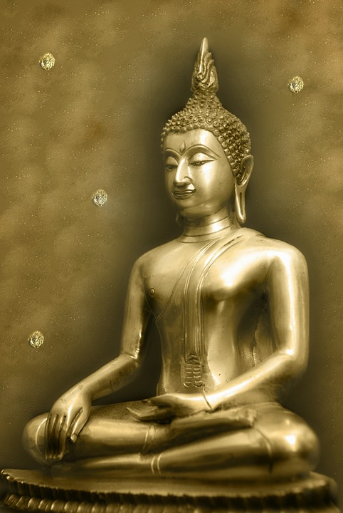 Background, Serene, Budha, Gold, Religion, Creative