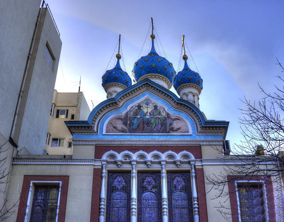 Buenos Aires, Argentina, Church, Russian, Domes