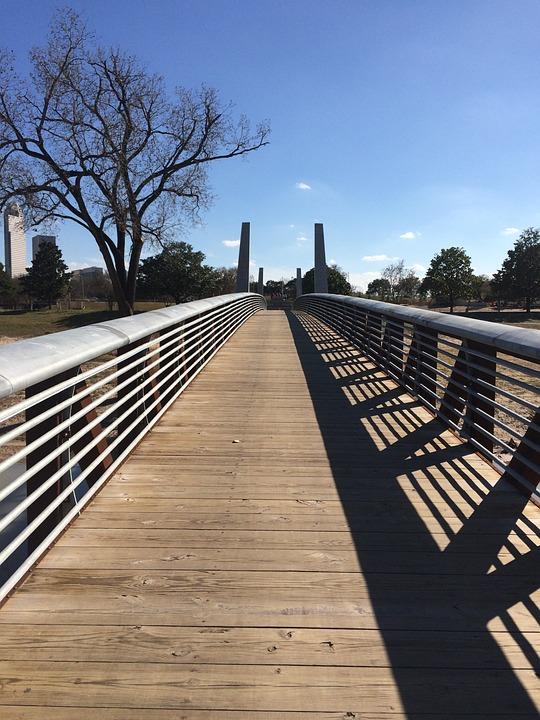Foot Bridge, Houston, Buffalo Bayou, Texas
