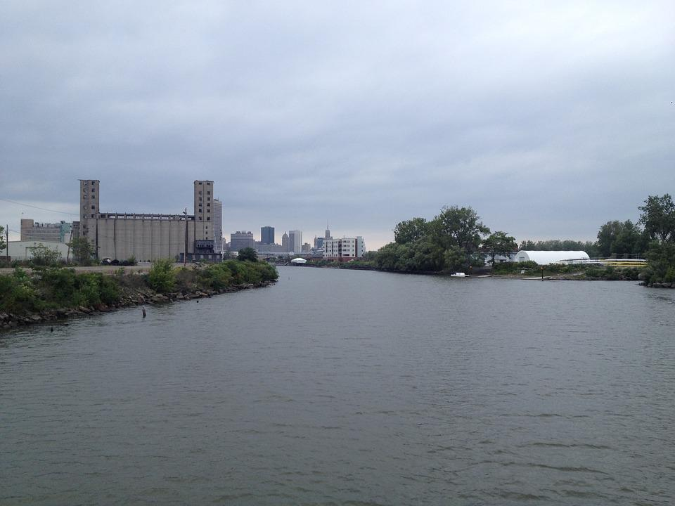 Buffalo, Grain Silos, River, Silo, Structure, Building
