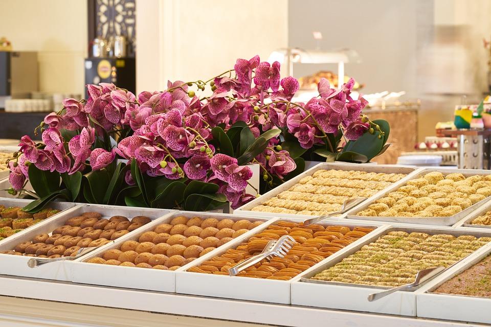 Baklava, Sweet, Candy, Turkey, Hotel, Buffet, Open