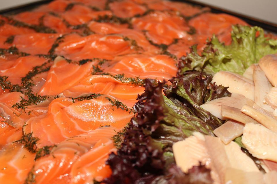 Salmon, Buffet, Cold Buffet, Delicious, Hearty, Food