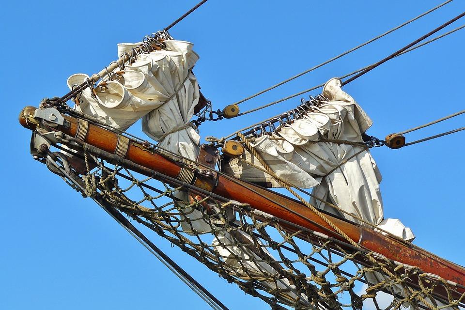 Ship, Sailing Vessel, Bug Mast Sail, Rigging, Masts