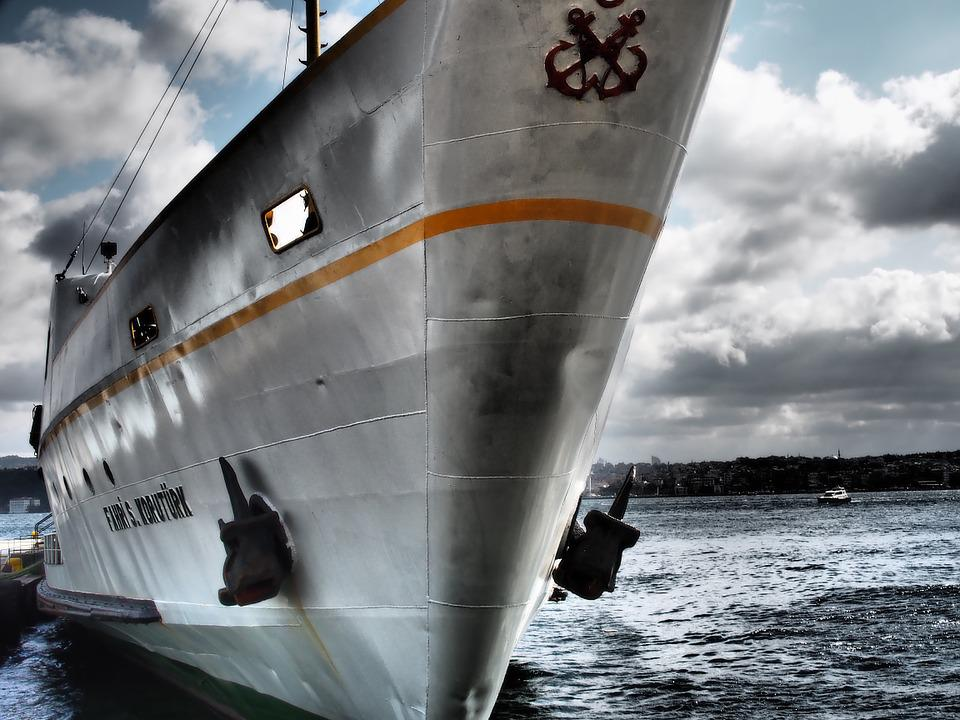 Ferry, Ship, Bug, Boot, Istanbul, Bosphorus