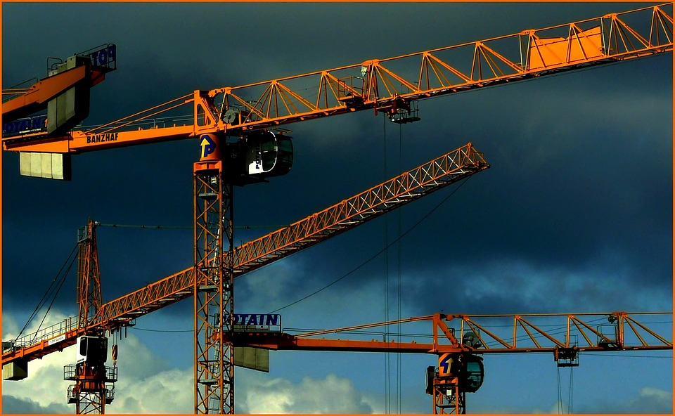 Crane, Sky, Site, Build, Baukran, Lift Loads, Crane Arm