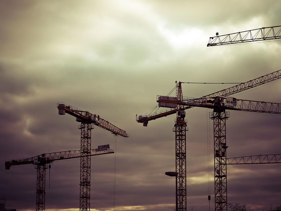 Construction, Site, Build, Construction Work, Crane