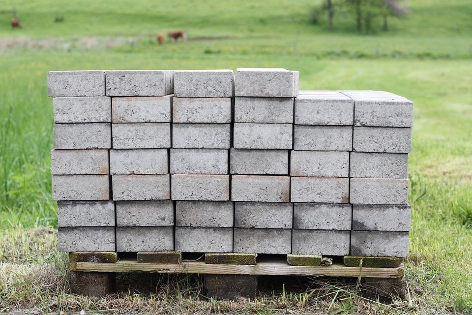 Composite Stones, Range, Stack, Wooden Pallet, Build