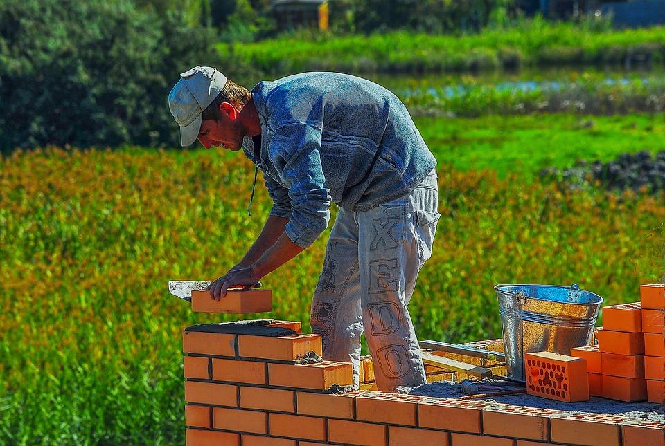 Mason, Construction, Bucket, Brick, Builder