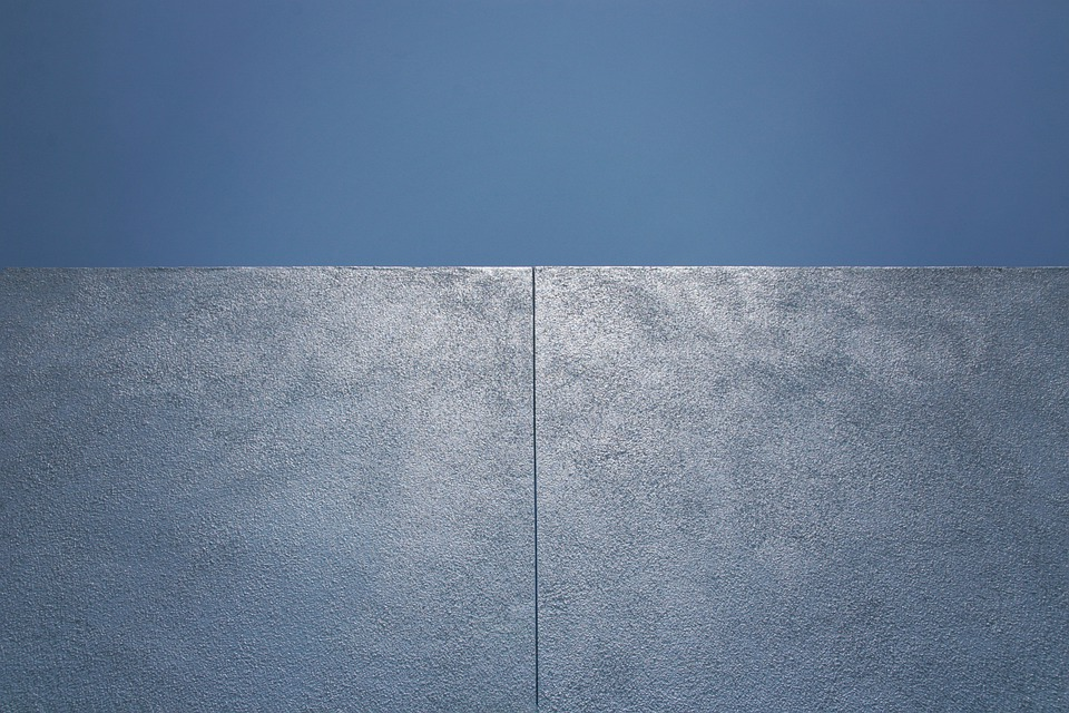 Wall, Blue, Building, Abstract, Geometric, Background