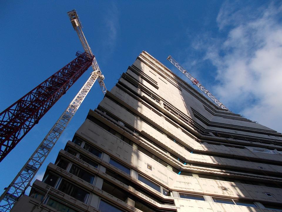 Building, Build, High, Faucet, London, Air