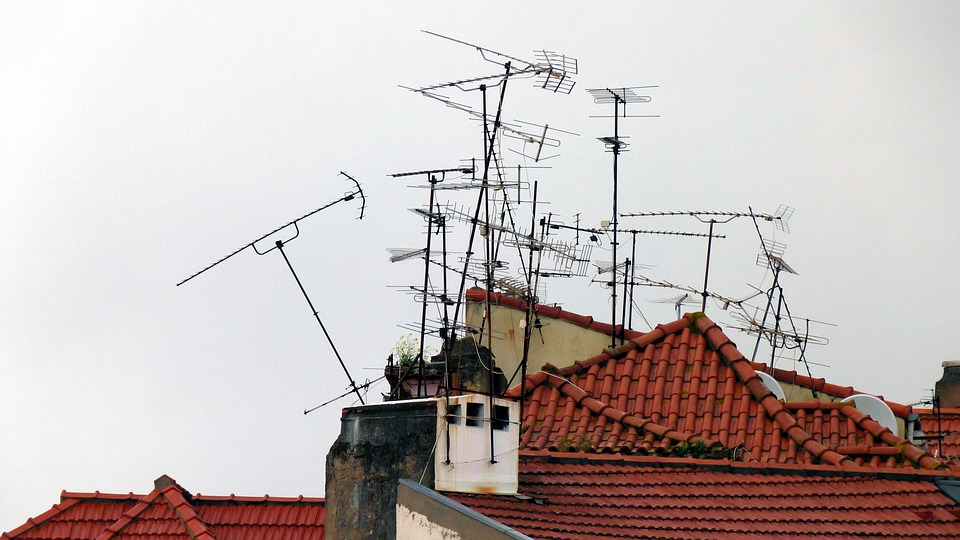 Home, Building, Antennas, Roofs