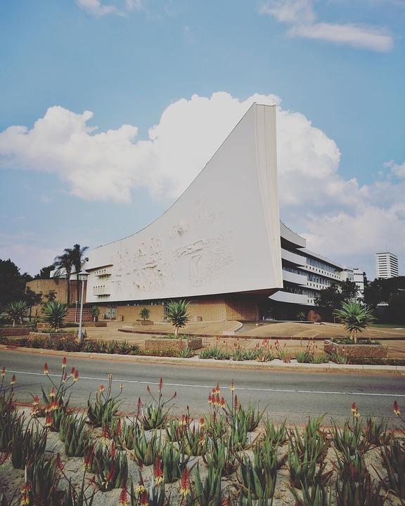 Building, Clouds, Architecture, University, City