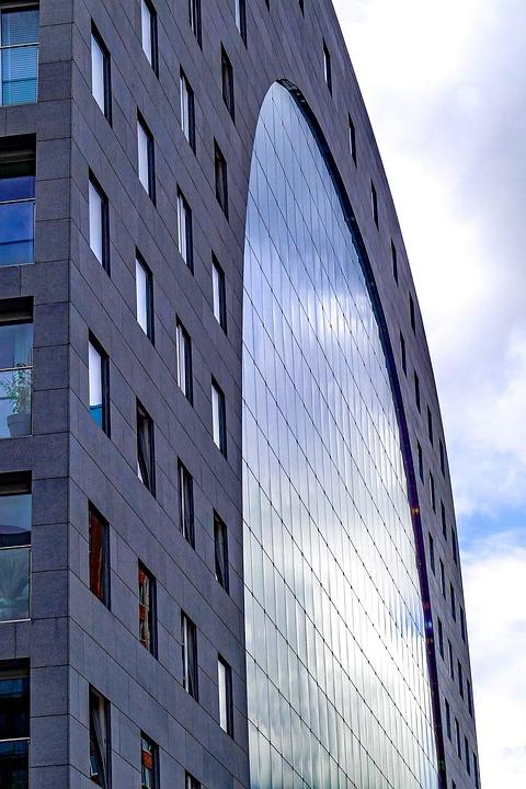 Building, Facade, Glass, Windows, Architecture, Modern