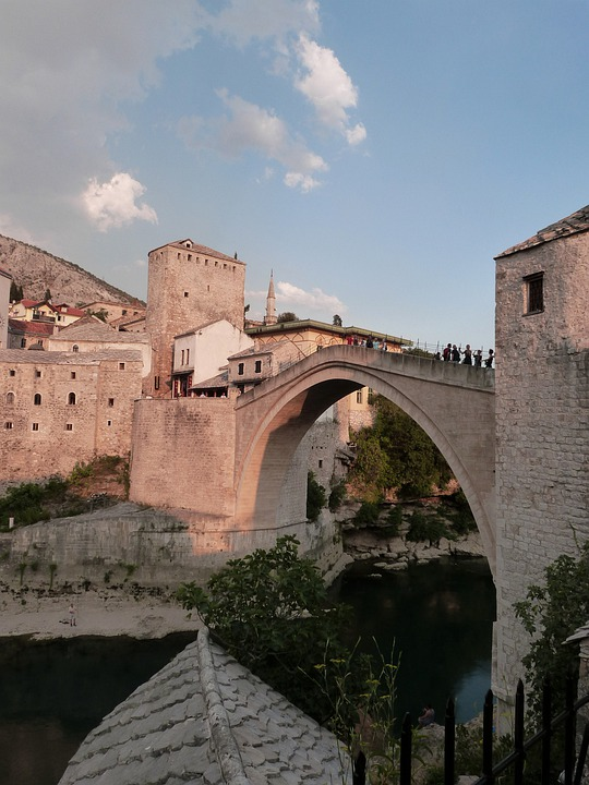 Old Town, Bridge, Mostar, Architecture, Building
