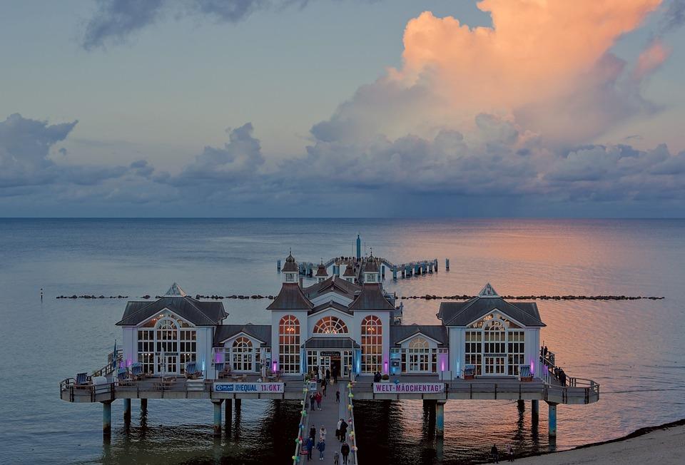 Sea Bridge, Pier, Resort, Architecture, Building