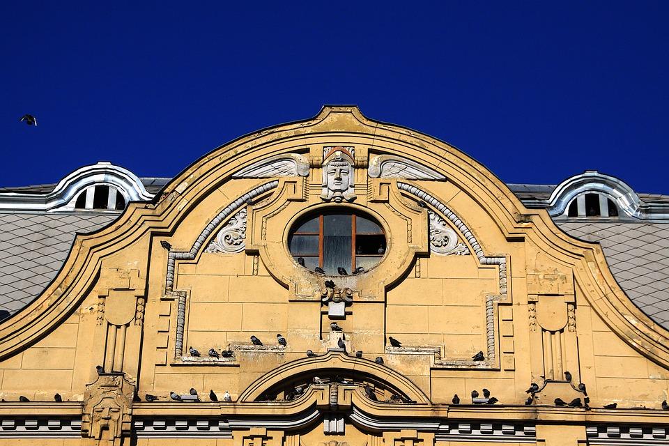 Building, Architecture, Art Nouveau, Home, Facade