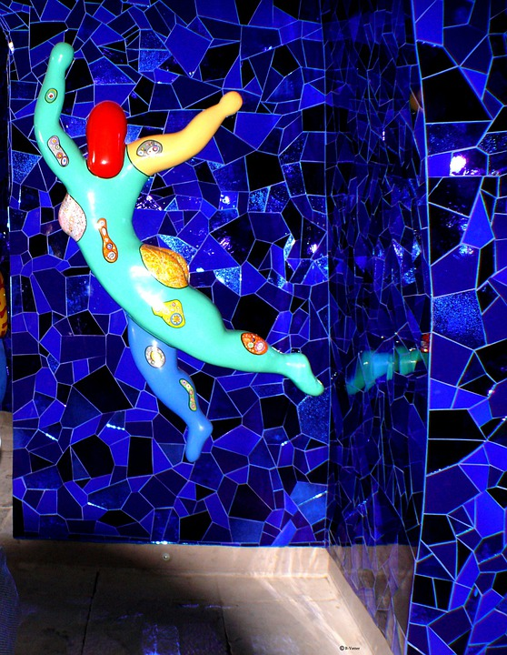 Fig, Mosaic, Colorful, Art, Building, Wall, Mirror