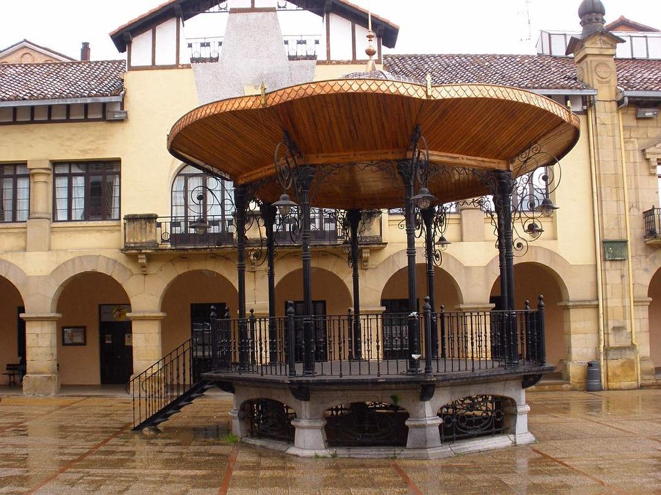 Beasain, Spain, Pavilion, Building, Urban, Courtyard