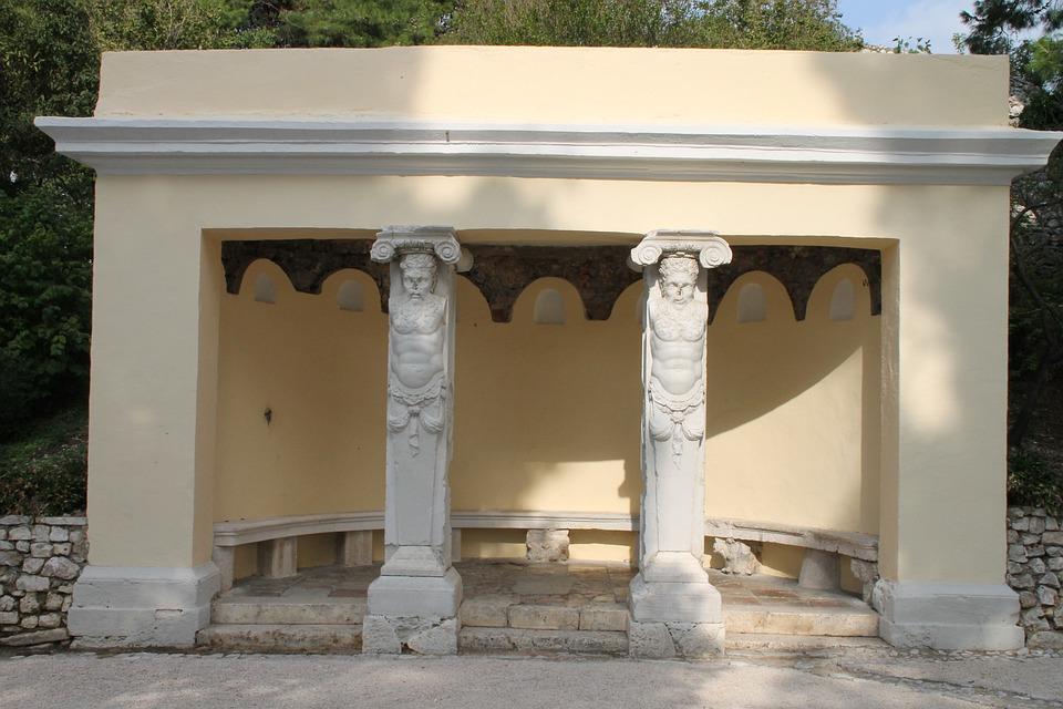 Pavilion, Roman, Building, Becnch, Architecture, Old