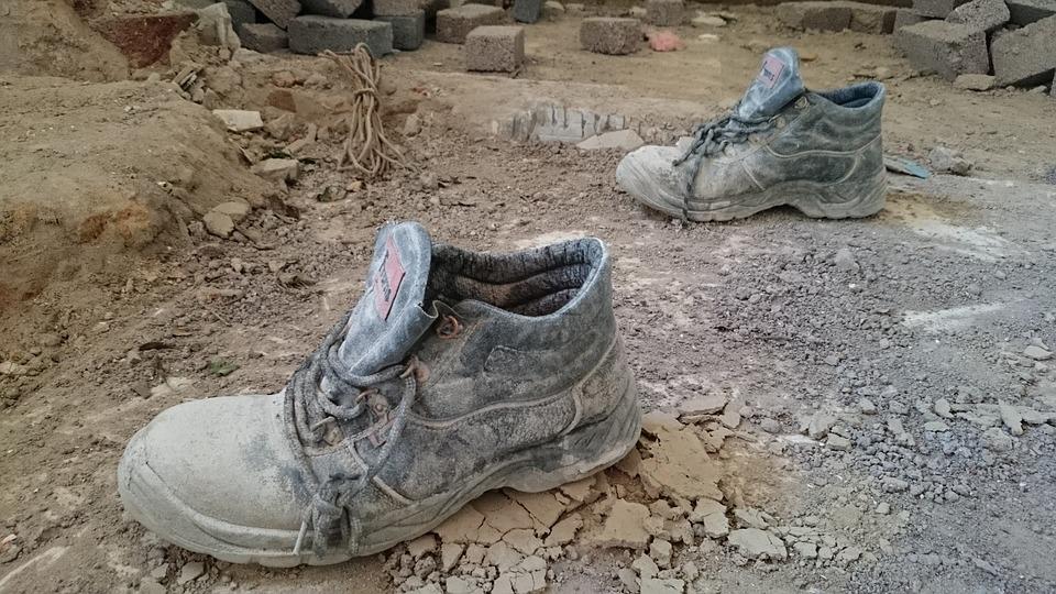 Boots, Mud, Cement, Building, Renovations, Bricks