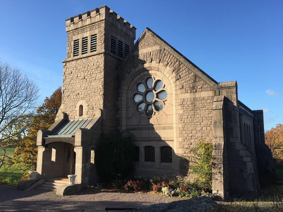 Church, Building, Stone-built House, Bow Window