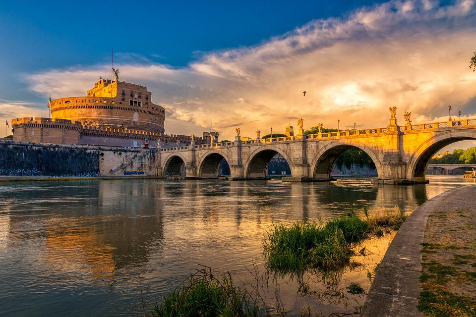 Rome, Bridge Of Angels, Castel Sant'angelo, Building