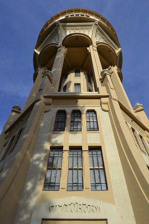 Tower, Water Tower, Building, Budapest, Architecture