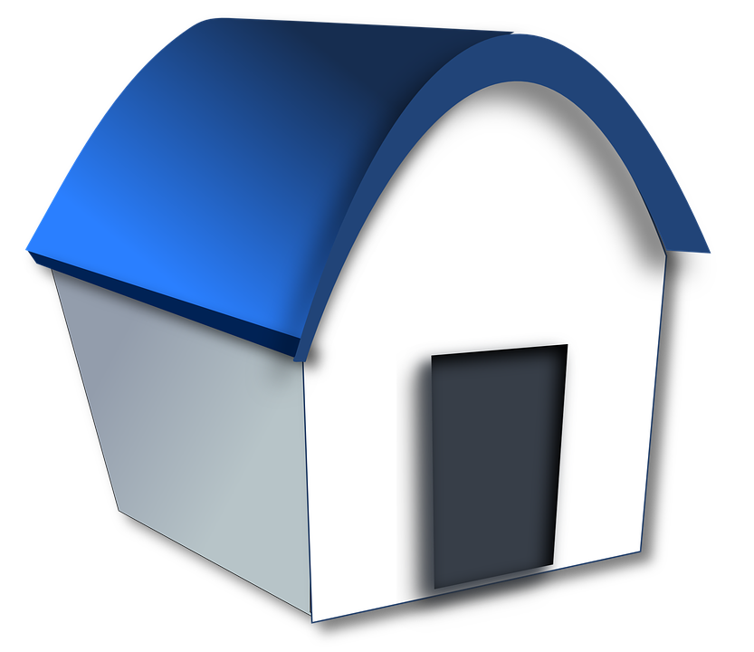 House, Home, Building, Cartoon, Funny, Simple, Blue