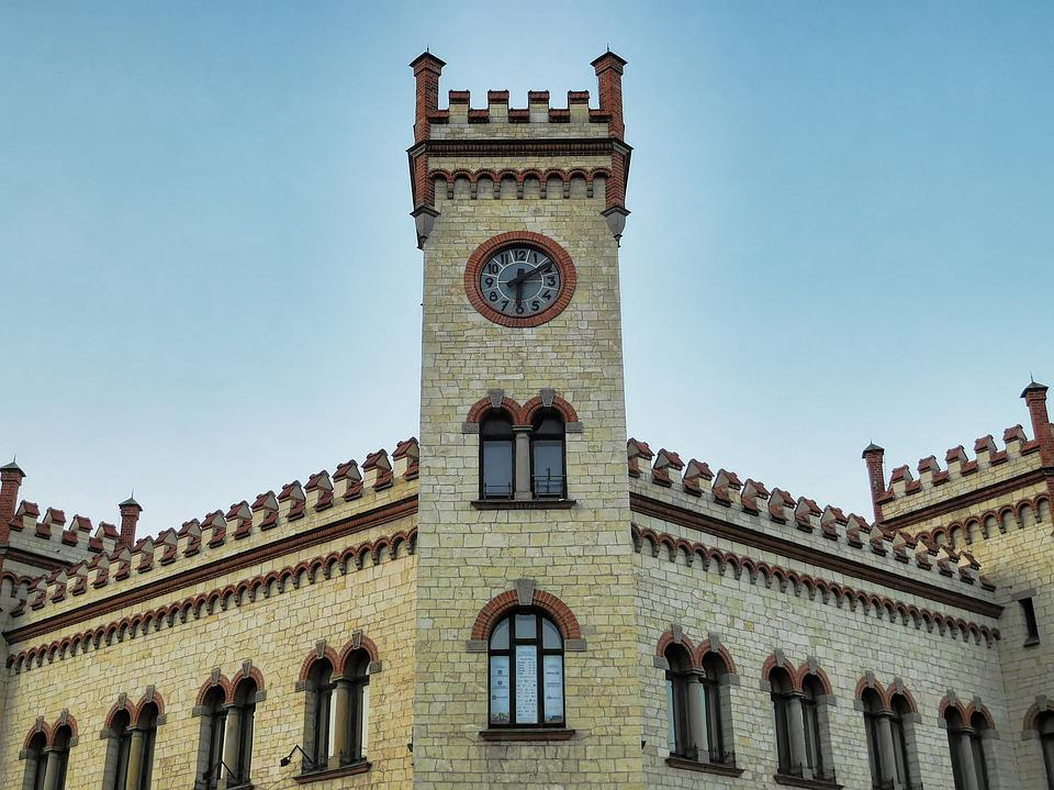 Castle, Tower, Clock, Architecture, Building, Old