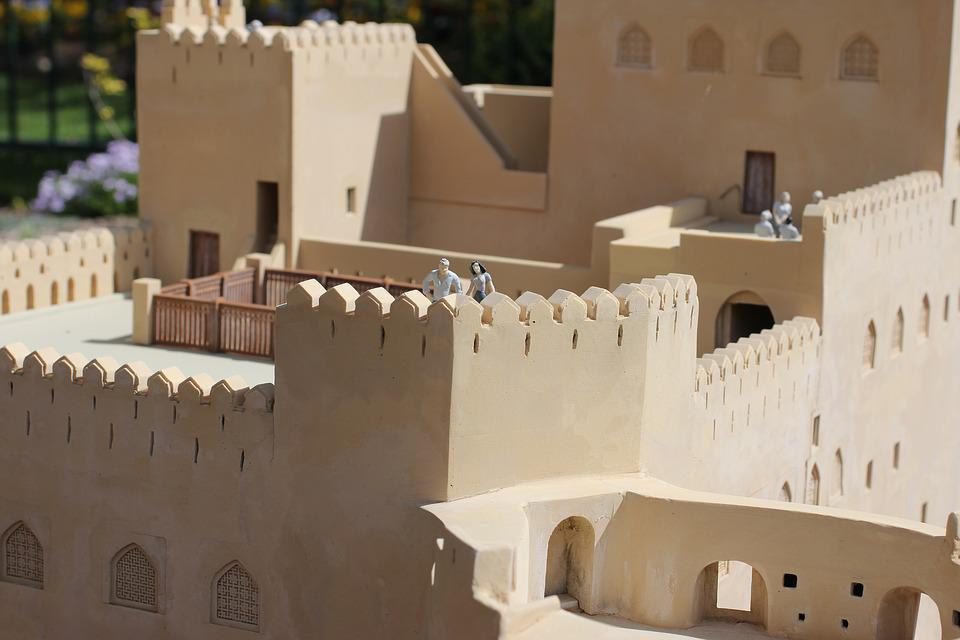 Miniature, Castle, Tourists, Building, Medieval, Europe