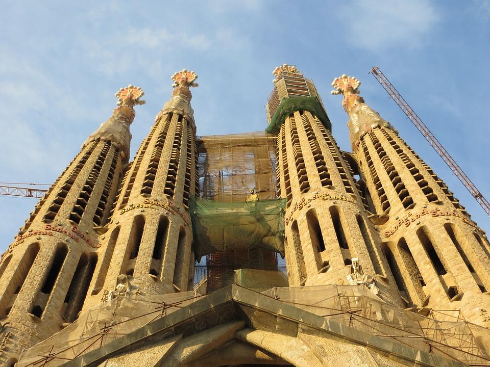 Barcelona, Gaudi, Spain, Catalonia, Building, Cathedral