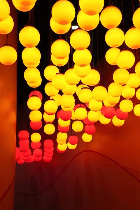 Building, Light, Warm, Roof, Lamp, Chandelier