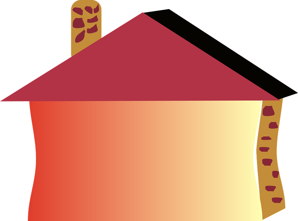 Building, House, Home, Small, Chimney, Bricks