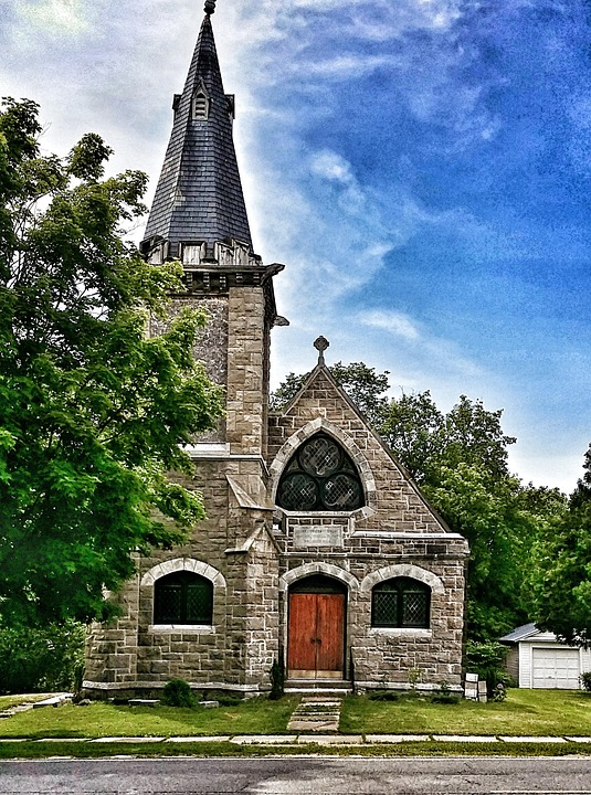 Church, Stone, Building, Architecture, Champlain