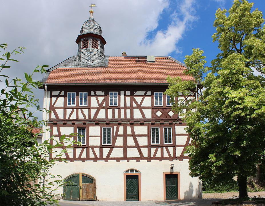 Church, Building, Dreisen, Germany, Old German Style