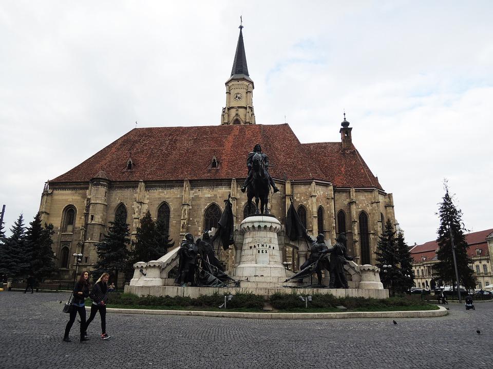 Cluj-napoca, Church, The Cathedral, Romania, Building