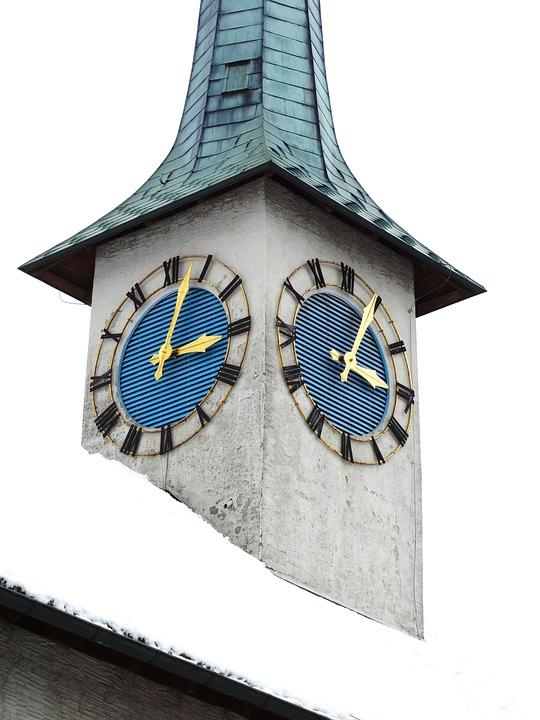 Church Tower, Clock, Church Clock, Building, Tower