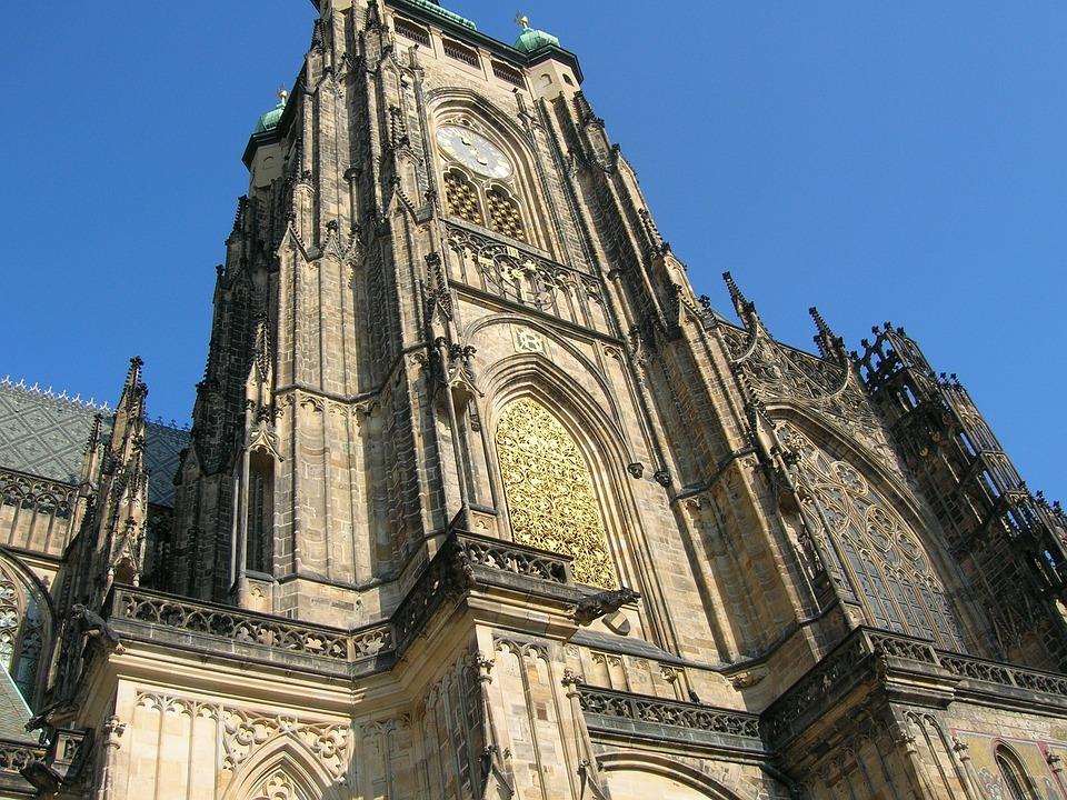 Sct Vitus Cathedral, Arhiteture, Clock Tower, Building