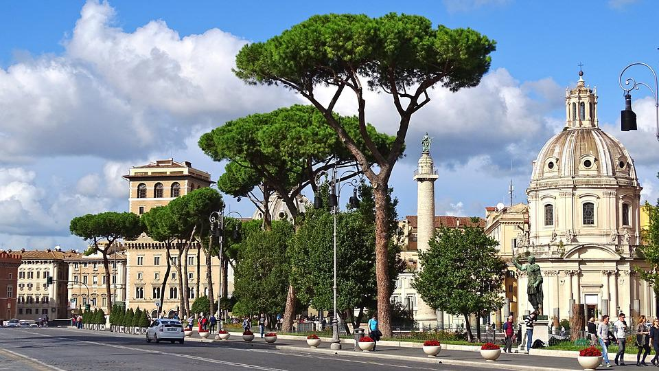 Italy, Rome, Building, Antique, Columnar, Roman