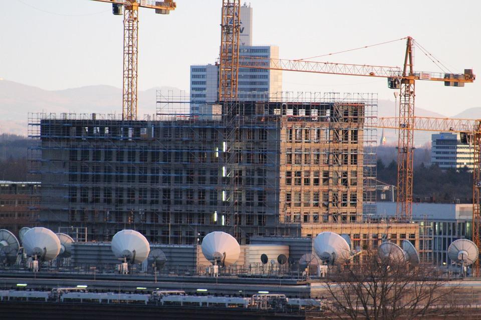 Buildings, Construction, Cranes, Building Construction