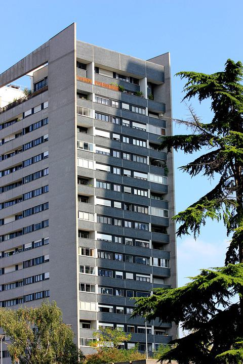 Courbevoie, Building, Trees, Sky, Architecture, City