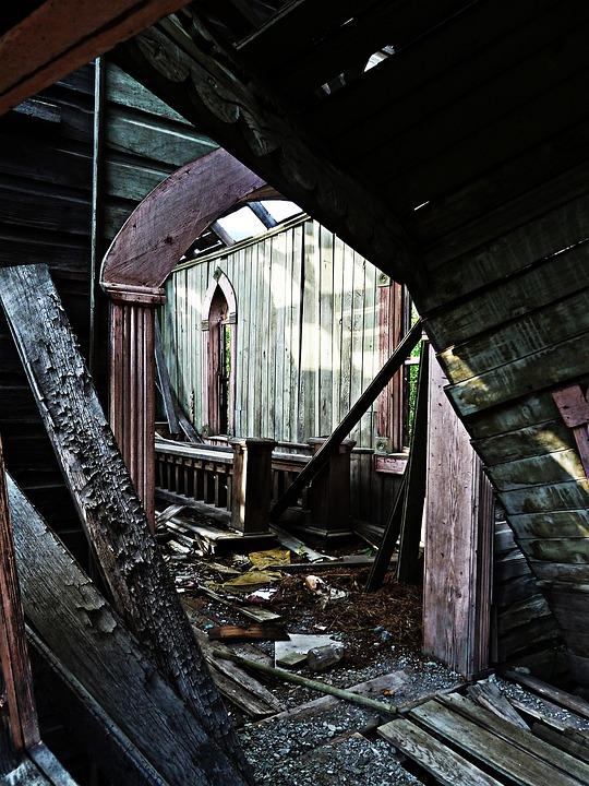 Church, Inside, Ruin, Damaged, Heritage, Building