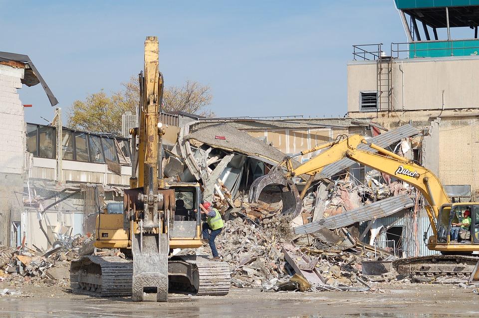 Airport, Demolition, Equipment, Building