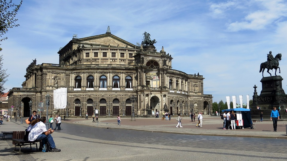 Semper Opera, Building, Historically, Dresden, Old Town